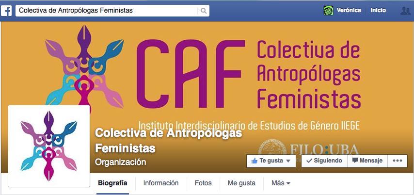Colectiva de Antropólogas Feministas CAF. Portada Facebook 2015.