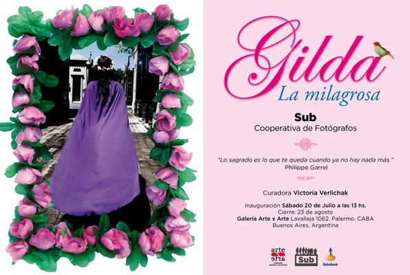 Gilda, La milagrosa. Gráfica para Expo. Flyer-postal