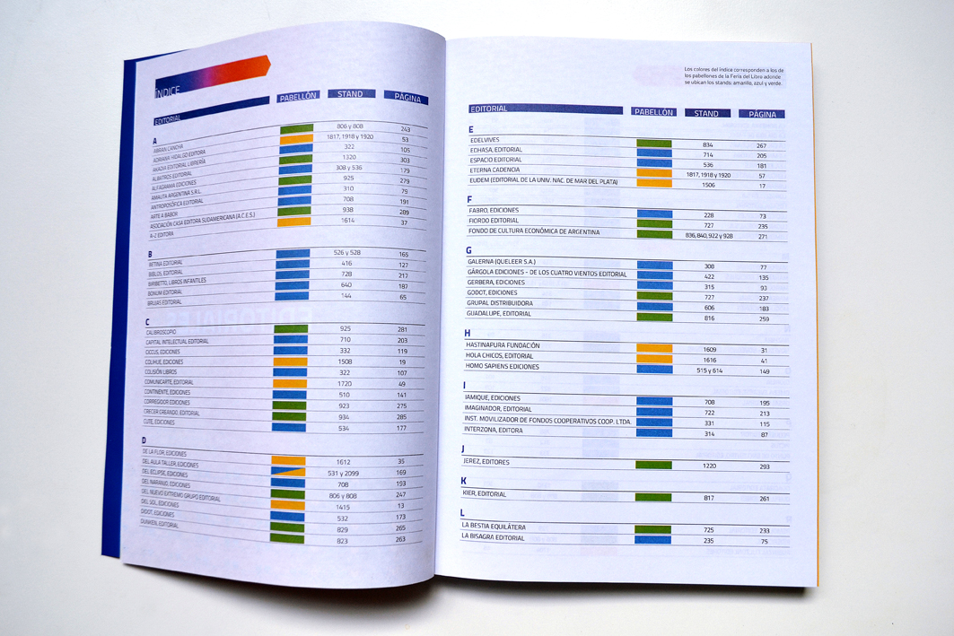 CAL Catálogo Feria del Libro 2014. Indice
