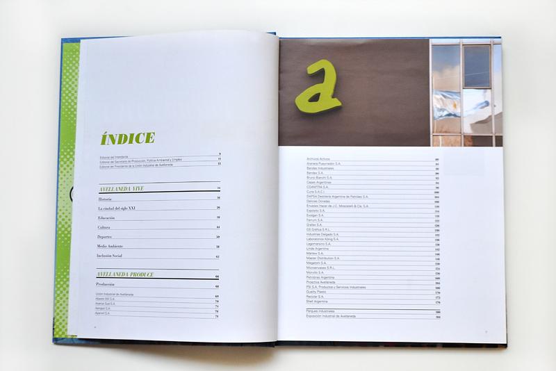Libro Avellaneda Productiva. Indice