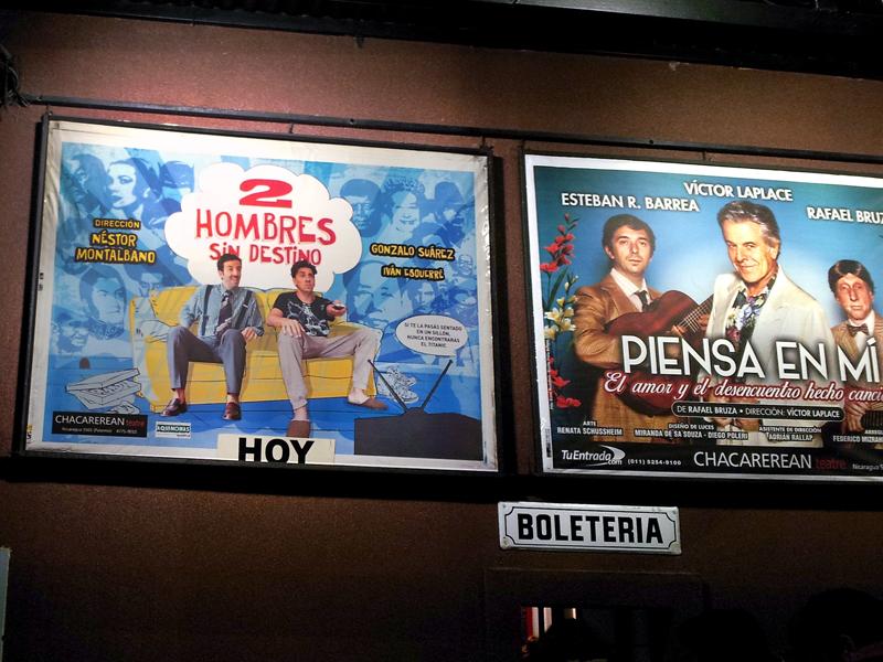 2 Hombres Afiche en teatro